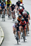 Cycling ladies Royalty Free Stock Images