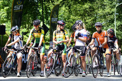 Cycling ladies Stock Image