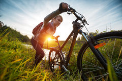 Cycling Stock Image