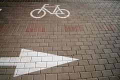 Cycling lane 5 Stock Images