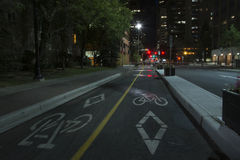Cycling Lane in Calgary, Alberta, Canada Stock Photography