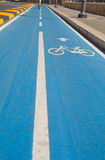 Cycling lane. Royalty Free Stock Images