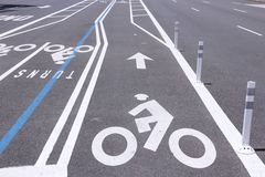 Cycling lane Stock Photography