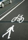 Cycling lane symbol  Stock Photo