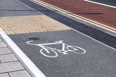 Cycling lane in UK Royalty Free Stock Photo