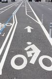Cycling lane, USA Stock Image