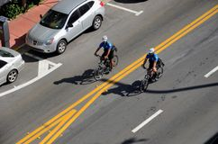 Cycling law. Miami Beach police royalty free stock images