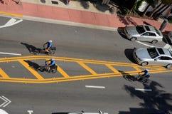 Cycling law. Miami Beach police stock photo