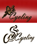 Cycling Logo 2 styles royalty free stock image