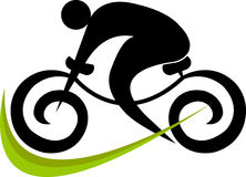 Cycling logo. Illustration art of a cycling logo with isolated background royalty free illustration