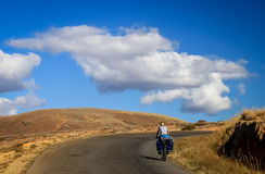 Cycling in Madagascar Royalty Free Stock Image