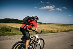 Cycling man Stock Images