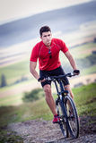 Cycling man Royalty Free Stock Photo