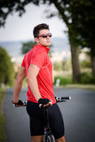 Cycling man Stock Image