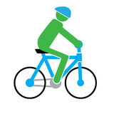 Cycling man simple vector Royalty Free Stock Photos