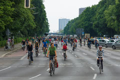 Cycling marathon in Berlin. Royalty Free Stock Photography