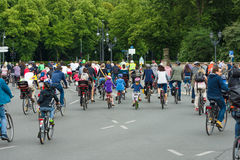 Cycling marathon in Berlin. Royalty Free Stock Image