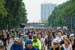 Cycling marathon in Berlin. Royalty Free Stock Photo