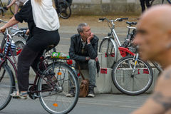 Cycling marathon in Berlin. Stock Photos