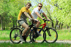 Cycling Men Royalty Free Stock Photography