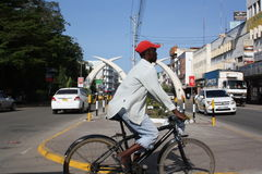Cycling. Mombasa. Stock Image