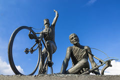 Cycling monument Royalty Free Stock Image