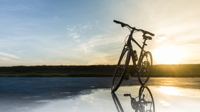 Cycling in the morning Royalty Free Stock Photos
