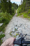 Cycling in mountain Royalty Free Stock Photography