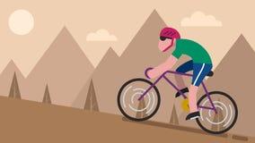 Cycling Mountain stock video