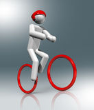 Cycling Mountain Bike 3D symbol, Olympic sports Royalty Free Stock Photos