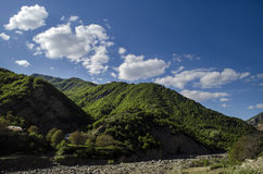 Free Cycling Mountain Road. Misty Mountain Road In High Mountains.. Cloudy Sky With Mountain Road. Big Caucasus. Azerbaijan Lahic Stock Images - 87819884