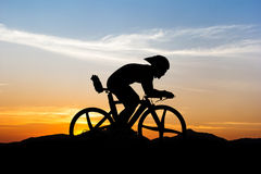Cycling at mountain Royalty Free Stock Images