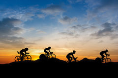 Cycling at mountain Stock Photography