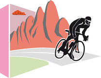 Cycling in the mountains Royalty Free Stock Photo