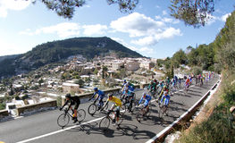 Cycling near valldemossa Royalty Free Stock Images