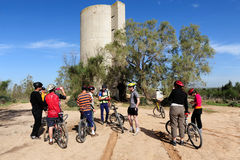 Cycling in the Negev Desert Israel Royalty Free Stock Photography