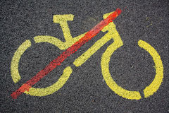 Cycling not allowed Stock Image