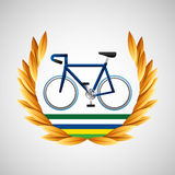 Cycling olympic games emblem Stock Image