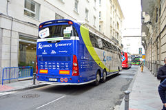 Cycling Orica Scott Team Bus Stock Photo