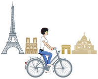 Cycling in Paris Royalty Free Stock Images