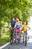 Cycling in park Stock Image