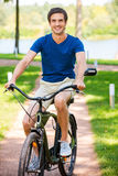 Cycling in park. Stock Images
