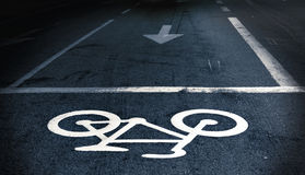 Cycling path Royalty Free Stock Photos