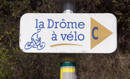Cycling path in the drome France Royalty Free Stock Image
