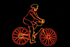 Cycling pattern of neon Stock Images