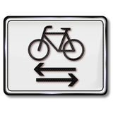 Cycling and pedestrian traffic sign Royalty Free Stock Photos