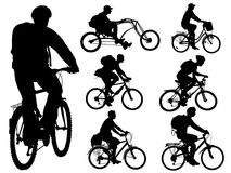Cycling people Stock Image