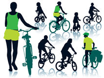 Cycling people Royalty Free Stock Photos