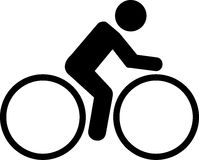 Cycling Pictogram. Simple icon with bike Stock Photos