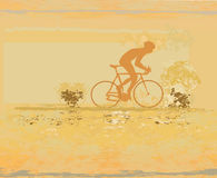 Cycling Poster Royalty Free Stock Photos